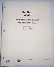 Case SYNCHROMESH TRANSMISSION Service Manual (used in 1190 1290 1390 Tractors)