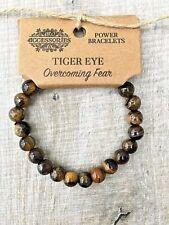 With Brown Bead Tiger Eye Stone Ladies, Mens Gemstone Healing Power Bracelet