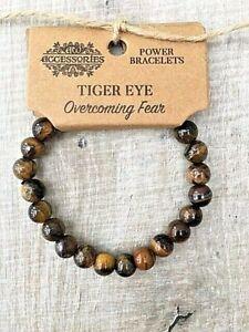 Ladies, Mens  Gemstone Healing Power Bracelet With Brown Bead Tiger Eye Stone