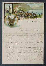Facture 1896 SOUVENIR DE MOINTREUX Dent du midi SUISSE entête illustrée 21