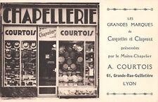 CPA 69 LYON GRANDE RUE GUILLOTIERE CHAPELLERIE COURTOIS MAGASIN (cpa rare