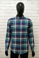 Camicia LEE Uomo Taglia Size S Maglia Chemise Shirt Man Cotone Quadri Regular
