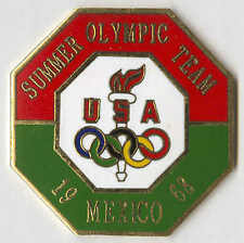 1996 ATLANTA OLYMPIC PIN RENDITION OF TEAM BADGE FROM MEXICO 1968
