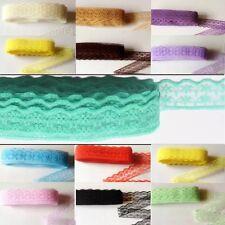 5yds (4.57m) Lace Ribbon 2cm Wavy Trim unilateral scrapbook sewing vintage #363