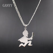 GNAYY Mens batman hatchetman juggalo juggalette ICP charm stainless steel Chain