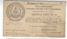 1891 UX9 Postal Card, Advertising, Catholic Order of Foresters, Fraternal FANCY