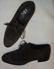Barneys New York Distressed Suede Oxfords, Brown Size 6.5 NEW