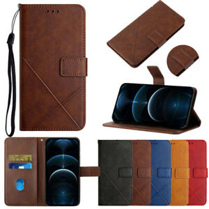 For Samsung A02S A51 A71 A50 A20e Leather Flip Wallet Magnetic Cards Case Cover