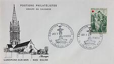 ENVELOPPE PREMIER JOUR - 9 x 16,5 cm - ANNEE 1971 - LANGRUNE SUR MER