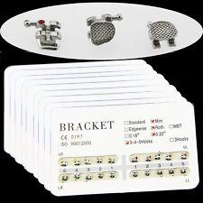 100 Packs Dental Orthodontic Metal Brackets Brace Mini Roth 022 Slot 345 Hooks