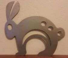 Bunny metal wall art, raw finish great for gardens, fences and indoor art