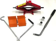 1 Ton Car Scissor Jack with Heavy Duty Wheel Chocks and Extendable Wheel Wrench