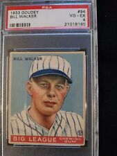 1933 Goudey Bill Walker #94 PSA 4. Check out my other listings!