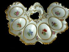 More details for unusual and very decorative porcelain egg plate server for six eggs