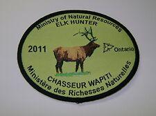 2011 ONTARIO MNR ELK HUNTING PATCH moose,bear,deer,hunter,canadian,patches,badge