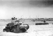 1930s-40s (6 x 4) Repro Italian RP- Panzer- M 13/40 Tank- Africa- Tobruk Libya