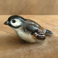 Goebel Porcelain Black Brown Bird Sparrow W Germany Vintage