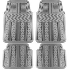 "4pc Gray All Weather OxGord Heavy Duty Rubber ""Arrows"" Auto Floor Mats"