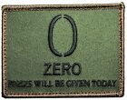 ZERO 0 F's EFF's WILL BE GIVEN TACTICAL ARMY USA ISAF FOREST VELCRO MORALE PATCH