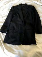 Vince. Womens Black Career Wool Blend Blazer Two Button Peak Lapel Size 2