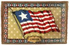 "c 1910 Liberia Antique Cigarette Tobacco Felt Blanket Flag 8.25"" x 5.5"""