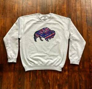Buffalo Bills NFL Sweatshirt Super Bowl Vintage Sport Grey Gift For Men Women
