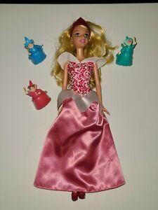 Disney Princess Sleeping Beauty Aurora 12-inch Tall Doll and Fairy Godmothers