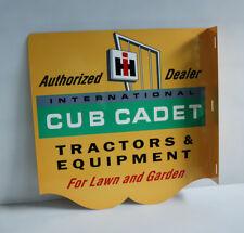 IH Cub Cadet Tractor Flange Sign   Lawn and Garden Mower Farm    Modern Retro
