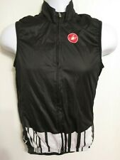 CASTELLI Pro Light ELBOWZ Racing Cycling Team Wind Rain Vest Sz. Small S Black