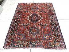 5x6ft. Vintage Persian Karadja Wool Rug