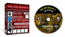 999 999  Drivers Huge Collection  4x Dvd Disks For Pc & Laptop For All Windows