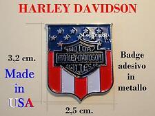 HARLEY DAVIDSON HD Stemma ADESIVO METALLO Badge Logo Fregio NUOVO Stemma BANDIER