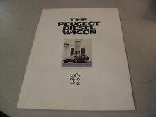Rare 1981 The Peugeot Diesel Wagon Car Brochure