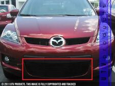 GTG 2007 - 2009 Mazda CX7 1PC Gloss Black Overlay Bumper Billet Grille Grill
