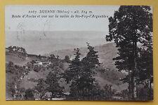 Carte postale ancienne DUERNE - Route d'Aveize et vue sur la vallée de STE FOY