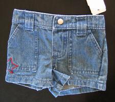 NWT: New Koala Kids 3-6 Month Miniwear Blue Jean Shorts w/ Red Star