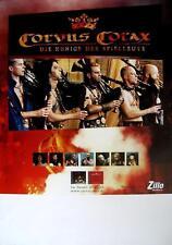 """CORVUS CORAX TOUR POSTER / KONZERTPLAKAT """"DIE KÖNIGE DER SPIELLEUTE"""""""