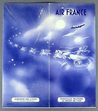 AIR FRANCE AIRLINE TIMETABLE LYON -  JULY 1948