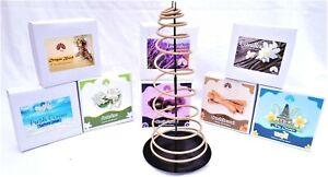 Lg INCENSE Coil Spiral - 10 per Box - 24 Hr - Natural Aromatherapy Fragrances