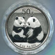 China 2009 Panda Commemorative Silver Coin 5oz 50 Yuan COA