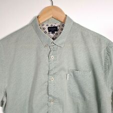 Mens Paul Smith Green Floral Allover Print Short Sleeve Shirt Size M Medium