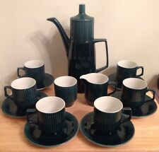 British Anchor Staffordshire England IMPACT GREEN 16 pc Coffee Set