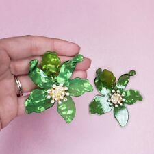 Beautiful Flower Acrylic Earrings Free Shipping