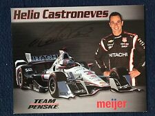 Helio Castroneves Signed Meijer Indy 500 Car Hero Card 2015 Rare Autographed