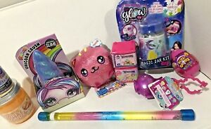 Girls Toy Fun Bundle Indoor/Outdoor Fun 10 piece SLIME, MYSTERY TOY, & MORE