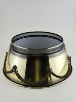Vintage French Metal Tole Bouillotte Empire Style Desk Table Floor Lamp Shade