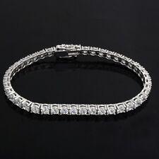 Women's 14K White Gold Over 3-1/2 CT Diamond S-Link Tennis Bracelet, 7 Inches