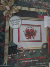 True Colors Christmas Fanfare Ribbon Embroidery Kit -5x7 Inches-Beginner Level