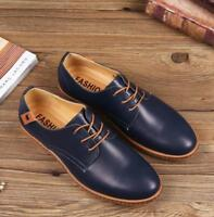 Mens business Casual Dress Formal Oxfords Flats Shoes England Lace Up Shoes