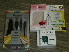 Nintendo DS Lite Kit d'Accessoires Console Case Secteur Chargeur USB voiture NEUF! DSL